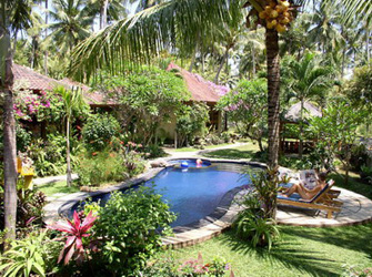 The swimming-pool in Saraswati Holiday House